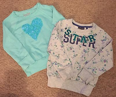 2x Girls Next Jumpers Age 5 Years