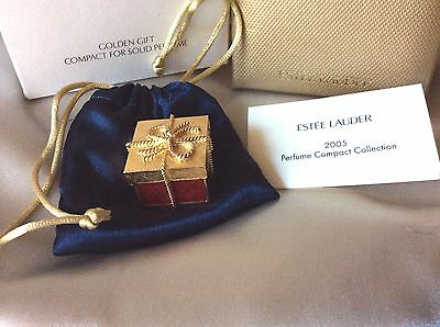 Figural Estee Lauder BEYOND PARADISE Solid Perfume Compact GOLDEN GiFT