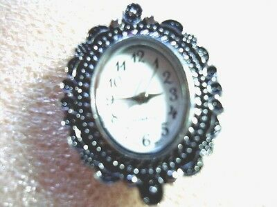 1 x Quartz  Watch Face  Silver Tone -   Findings  (Lot numbe 1)