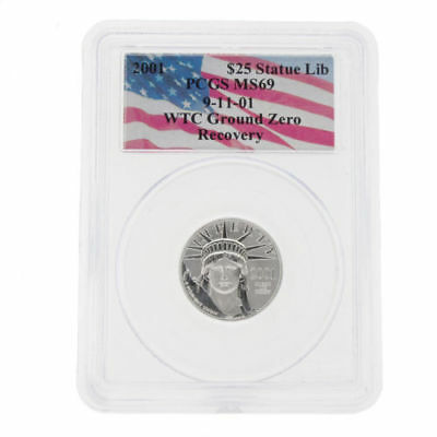 WTC 2001 $25 Platinum American Eagle PCGS MS69 Coin World Trade Center Recovery