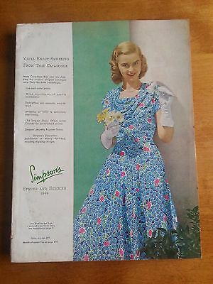 Vintage Simpsons Catalogue Spring and Summer 1949