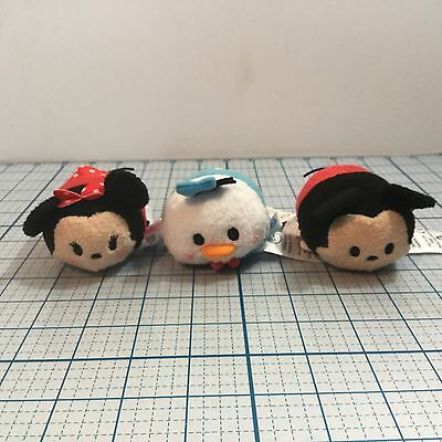 NWT (Set of 3) Plush DISNEY TSUMS TSUMS: Mickey, Minnie & Donald Duck - Toys