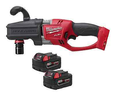 Milwaukee M18 FUEL HOLE HAWG Right Angle Drill w/ TWO BATTS 2708-20 New