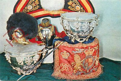 Postcard: HOUSEHOLD CAVALRY MUSEUM, KETTLE DRUMS, CUIRASS, SWORD, SHABRAQUE