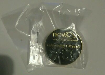 Brand New Sealed Collectable Pin - New College Worcester 150 Years