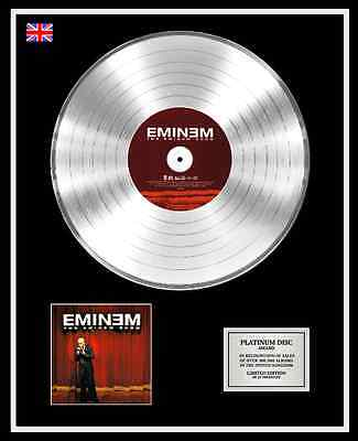 EMINEM SLIM SHADY Ltd Edition CD Platinum Disc Record THE EMINEM SHOW
