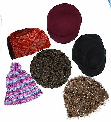 LOT OF 6:  Women Quality Cancer  Chemo Fun Hats Caps - Winter Hats for Women