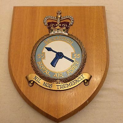 55 Squadron Royal Air Force plaque shield RAF Great Condition
