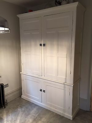 Victorian Housekeepers Solid Wood Cupboard Pantry Cabinet Linen Press
