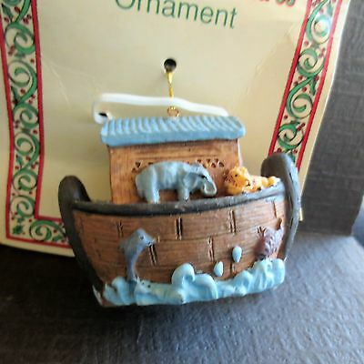 Resin Hinged Noah's Ark Christmas Ornament
