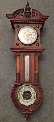 Victorian Wall Clock And Barometer