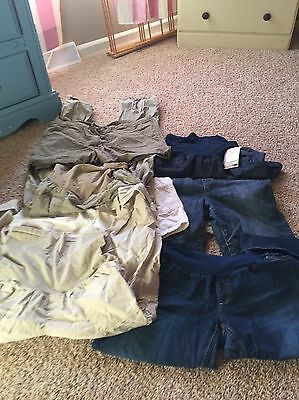 Maternity Lot Of Shorts And Pants 7 Size Large