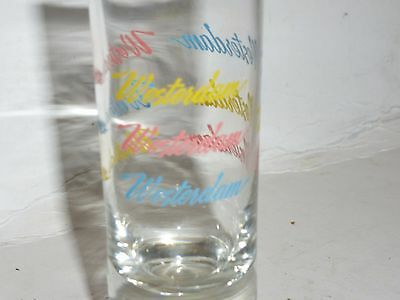 "WESTERDAM Cruse Ship 4"" Shooter Glass Clear"