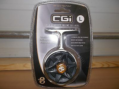 No 8 CGI Cold Gear Inline Ice reel LEFT HAND NEW