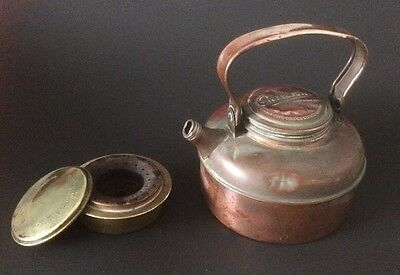 Vintage Copper Picnic Kettle And Stove