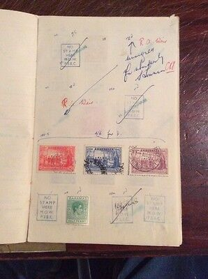 Old Commonwealth Club Book, With Mint & Used Stamps
