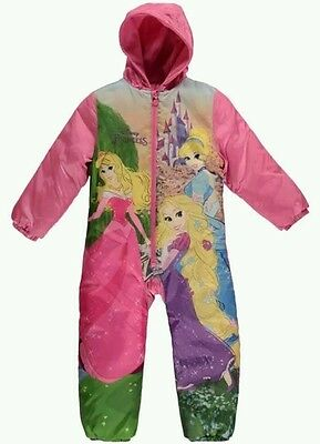 BNWT Girls Disney Princess Padded Snowsuit Suit All In One Age 9 - 10 Years NEW