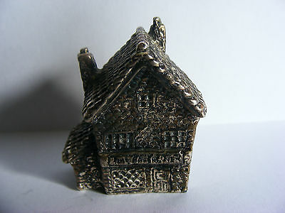 "Miniature Antique Silver Plated Model (Tudor Bakery) Stamped ""RH"". c 1920"