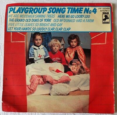 Playgroup Song Time No.4. FP10068 - Music for Pleasure - UK - 1976