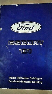 ford escort mk3/mk4 body work and parts book,rare.