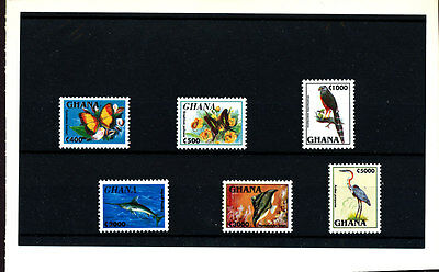 Butterflies Insects Birds Fishes Rare Definitives 1995 Ghana Mnh