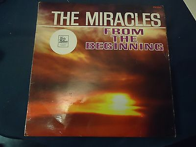 The Miracles Lp From The Beginning  R&b,soul,tamla Motown, 1St Pressing