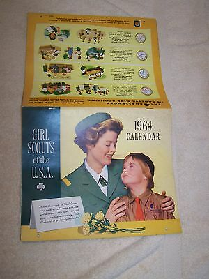 Vintage Girl Scouts Of The U.s.a. 1964 Calendar