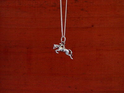 "Hunter Jumper Horse Pendant with 18"" Chain,Equestrian Jewelry"