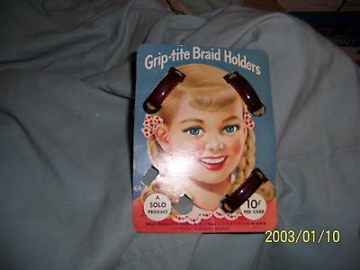 Braid holders Solo 1948-1951 on Card AD