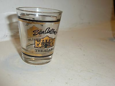 SAN ANTONIO THE ALAMO Shot Glass Clear 2 1/4""