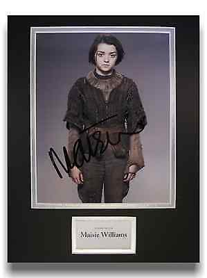 Maisie Williams 'Game of Thrones' Authentic Hand Signed Autograph 8x10 Photo