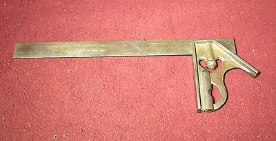 "VINTAGE GOODELL PRATT COMBINATION SQUARE WITH 12"" RULE No.4"