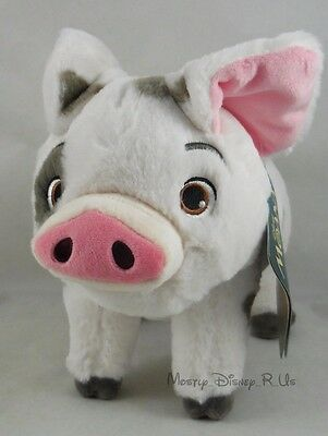 """New Disney Store Exclusive Authentic Moana Pua Pig 9 1/2"""" Plush Toy Doll Small"""