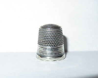 Antique Stern Brothers Sterling Silver Thimble Sz. 8