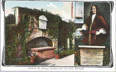 Bermuda - Admiral Sir George Somers & his Tomb - postcard by Weiss, c.1910s