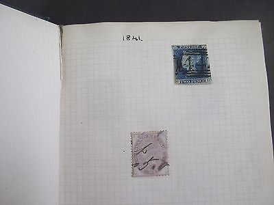 SMALL ALBUM OF BRITISH STAMPS - VICTORIAN EDWARDIAN UP TO 1950s Approx 250