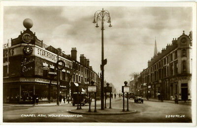 "Staffordshire - ""wolverhampton, Chapel Ash"" + Old Cars - Real Sepia Photo 1938."