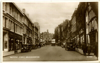 "Staffordshire - ""wolverhampton, Victoria Street"" - Shops & Cars"" 1939."