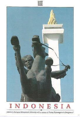Jakarta, Indonesia - National Monument & Statue of Prince Diponegoro - postcard