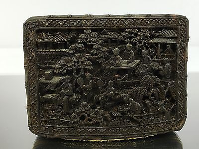 Very Rare Antique Chinese Export Snuff Box Made Of Solid Gold & Tortoise Shell