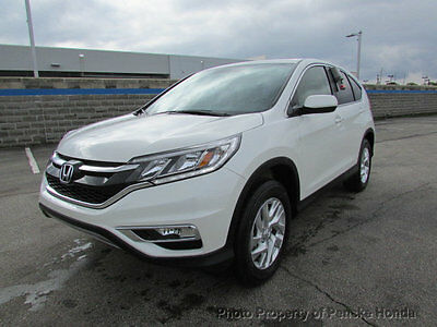 2016 Honda CR-V AWD 5dr EX AWD 5dr EX New 4 dr SUV CVT Gasoline 2.4L 4 Cyl White Diamond Pearl