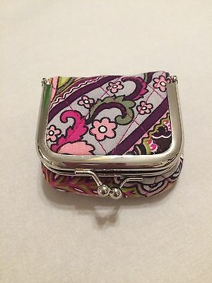 Vera Bradley Very Berry Paisley Pill Or Contact Case Retired NWOT