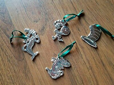 4 Collectible  Dr. Seuss Christmas   tree Ornaments
