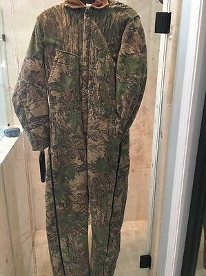 Vintage CABELA'S Realtree camo insulated coveralls M Warm Heavy Used