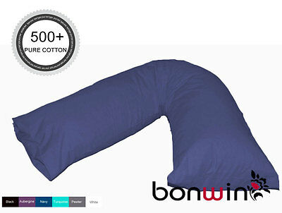 500TC 100% Egyptian Cotton V-Shaped Boomerang Pillow Case Sham -- 6 colours