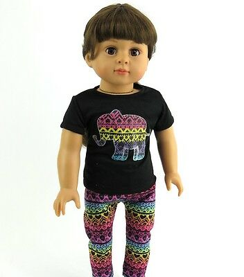 """Red Fringe Tribal Pant Set Purse Fits Wellie Wisher 14.5/"""" American Girl Clothes"""