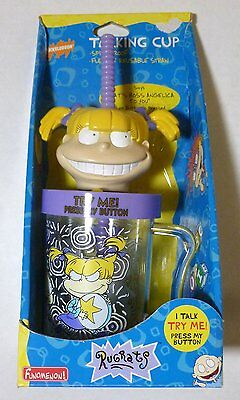 Nickelodeon Rugrats Angelica Talking Cup & Straw Purple 1997