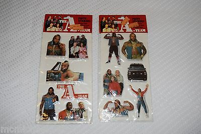 2 Packs of Vintage The A Team Mr. T Puffy Stickers from 1983 Factory Sealed HTF