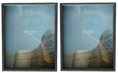 Swing Design Stratton Photo Frame 8x10 Charcoal! Brand New in Box! Lot of 2!