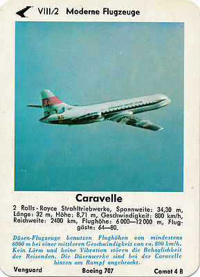 Single Vintage German Game Card: Caravelle